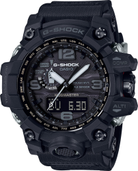G-Shock Watch Triple Sensor Mudmaster, Black Solar, Black Resin Strap, Black/Gray Dial