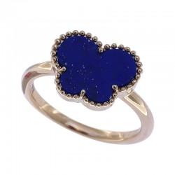 14K Yellow Gold Lapis Lazuli Ring 1.65 TCW
