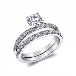 14KW Diamond Engagement Ring with a center head for a 3/4 ct round