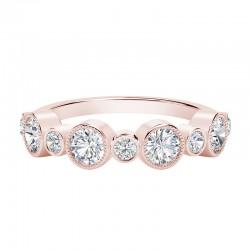 18K Rose Forevermark Classic Forever Bezel Diamond Ring