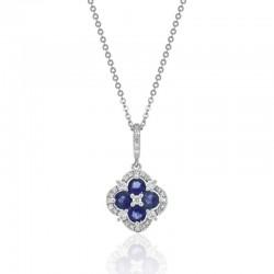 Luvente Sapphire and Diamond Pendant