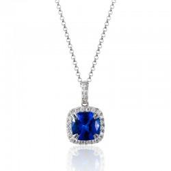 Luvente Tanzanite & Diamond Pendant