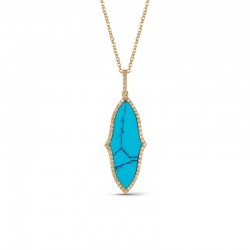 Luvente Turquoise and Diamond Pendant