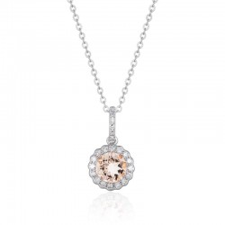 Luvente Morganite & Diamond Pendant