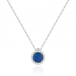 Luvente Opal and Diamond Pendant