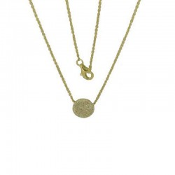 Luvente Diamond Pave Circle Necklace
