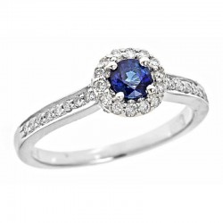 14kw sapphire and diamond ring