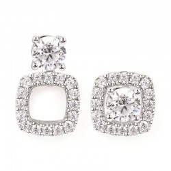14KW Diamond Square Earring Jackets