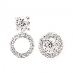 14KW Diamond Round Earring Jackets