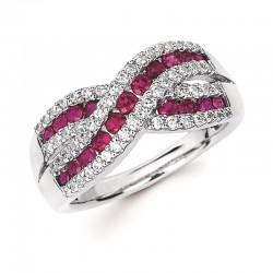 14KW Ruby & Diamond Ring