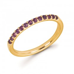 14KY Amethyst Stackable Ring