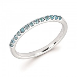 14KW Blue Topaz Stackable Ring