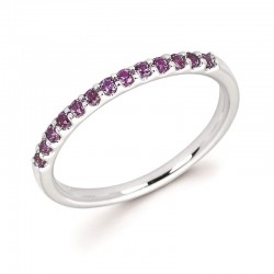 14KW Created Alexandrite Stackable Ring