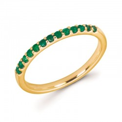 14KY Emerald Stackable Ring