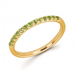 14KW Peridot Stackable Ring
