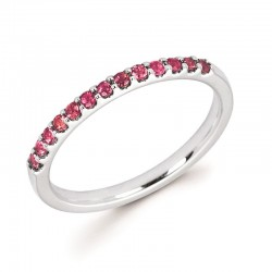 14KW Pink Tourmaline Stackable Ring