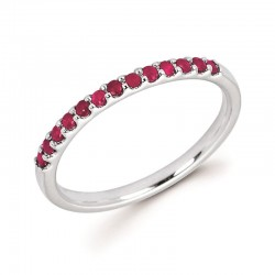 14KW Ruby Stackable Ring
