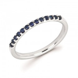 14KW Sapphire Stackable Ring