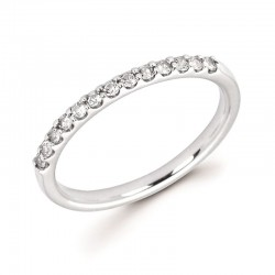 14KW White Sapphire Stackable Ring