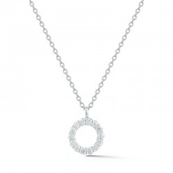 18KW .17ctw Diamond Illusion Necklace - Adjustable