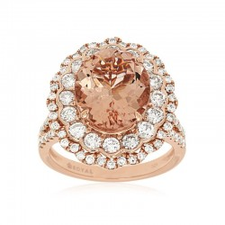 14KR Morganite & Diamond Ring
