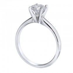 18KW Solitaire Ring