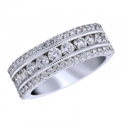 18KW 1.50ctw Diamond Fashion Band