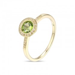 Luvente Peridot and Diamond Ring