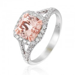 Luvente Morganite & Diamond Ring