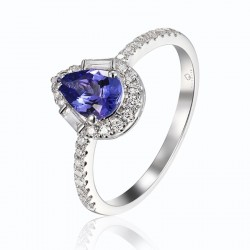 Luvente Tanzanite and Diamond Ring