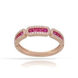 Luvente Ruby and Diamond Ring