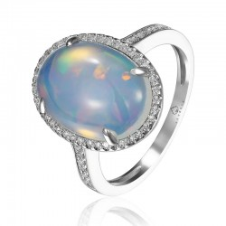 Luvente Opal and Diamond Ring