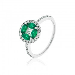 Luvente Emerald Ring