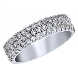 18KW .84ctw Diamond Fashion Ring