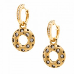 Mirror Collection Circle Drop Earrings