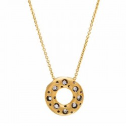 Mirror Collection Clip Top Circle Pendant