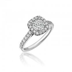 14KW Diamond Halo Engagement Ring