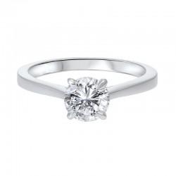 14KY Diamond Solitaire Engagement Ring .33ct Diamond