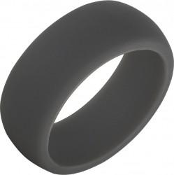 TruBand Silicone™ Domed Dark Gray Band