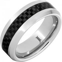 Serinium® Carbon Fiber Inlay Beveled Edge Band