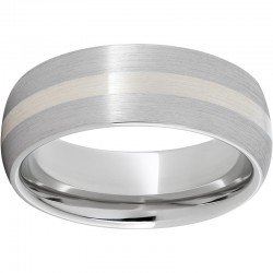 Serinium® Sterling Inlay Satin Band