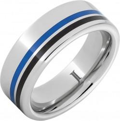 Serinium® Blue Enamel Band