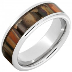 Serinium® Pipe Cut Copper Inlay Band