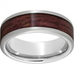 Serinium® Pipe Cut Cabernet Barrel Aged Inlay Stone Finish Band