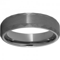 Rugged Tungsten™ Faceted Beveled Edge Satin Finish Band