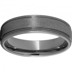Rugged Tungsten™ Rounded Edge Stone Finish Band