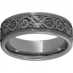Rugged Tungsten™ Viking Rounded Edge Band