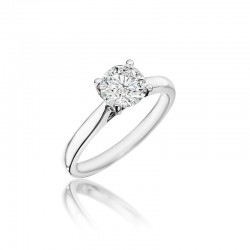 14KW Diamond Solitiare Engagement Ring