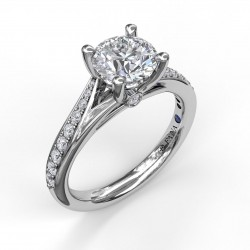 Designer Split Band Engagement Ring