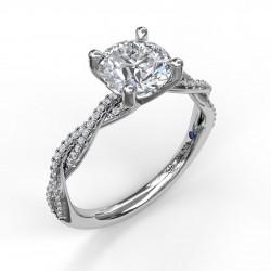 Petite Diamond Twist Engagement Ring